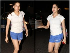 Sara Ali Khan is all smiles while getting papped outside the gym