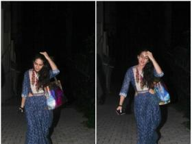 Sara Ali Khan snapped by the paps outside the yoga classes