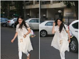 Sara Ali Khan snapped post her yoga session