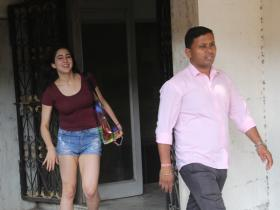 Sara Ali Khan spotted post gym session