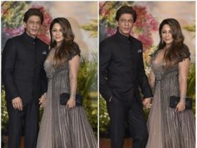 Shah Rukh Khan and Gauri Khan arrives in style at the reception party