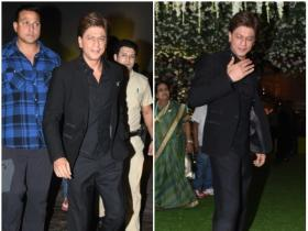 Shah Rukh Khan attends Poorna Patel and Namrit Soni's wedding reception