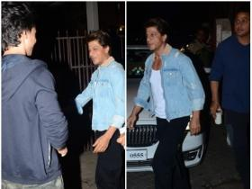 Shah Rukh Khan gets papped outside a recording studio