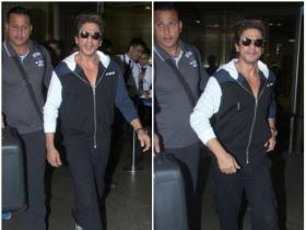 Shah Rukh Khan keeps it casual at the airport