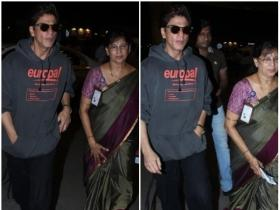Shah Rukh Khan keeps it stylish at the airport