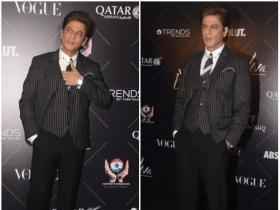 Shahrukh Khan is all smiles while getting papped at Vogue Beauty Awards 2018