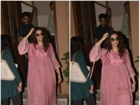 Sonam K Ahuja gets snapped by the paparazzi in the city
