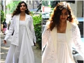 Sonam K Ahuja is all smiles while getting clicked by the shutterbugs