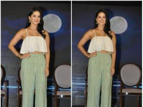 Sunny Leone clicked during the launch of Jal Mineral Water