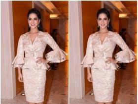 Sunny Leone clicked promoting a new brand jewelry