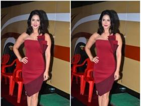 Sunny Leone snapped at the Mehboob studios