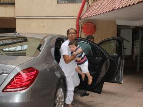 Taimur Ali Khan Pataudi snapped by the paps in the city