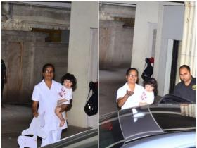 Taimur Ali Khan gets clicked in the city