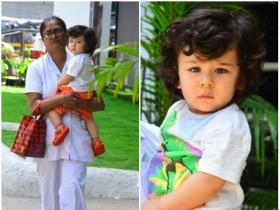 Taimur Ali Khan gets snapped outside his playschool