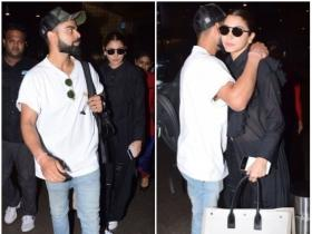 Virat Kohli and Anushka Sharma gets papped at the airport