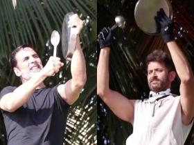 Akshay Kumar & Hrithik Roshan cheer for warriors fighting against COVID 19 amid Janta Curfew