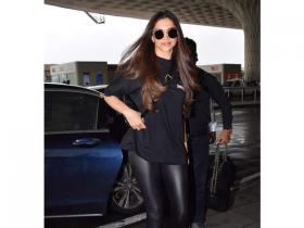 Deepika Padukone nailed an all black look with perfection; Check it out PHOTOS