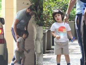 Taimur Ali Khan accompanies Saif Ali Khan to the gym and the little Nawab looks beyond adorable; See Pics
