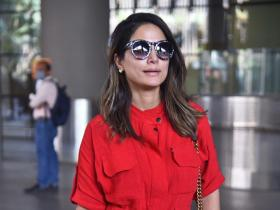 PHOTOS: Hina Khan looks drop dead gorgeous in red playsuit as she gets clicked at the airport