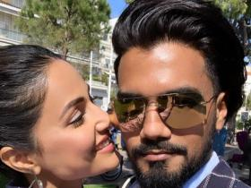 PHOTOS: Hina Khan can't keep her eyes off beau Rocky Jaiswal; Check out