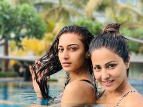PHOTOS: Kasautii Zindagii Kay stars Erica Fernandes and Hina Khan share a great camaraderie
