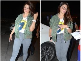 Jacqueline Fernandez snapped by the paps at the airport