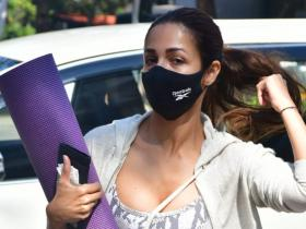 PHOTOS: Malaika Arora is all set to sweat it out as she is snapped outside her yoga studio