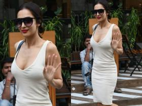 PHOTOS: Malaika Arora raises the temperature as she steps out in a fitted white bodycon dress