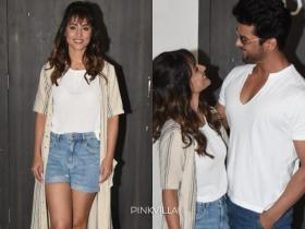 PHOTOS: Hina Khan flaunts new hairstyle as she promotes her web series with co star Kushal Tandon