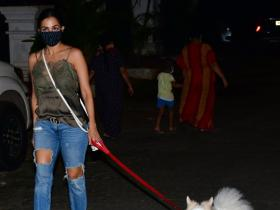 PHOTOS: Malaika Arora keeps it casual yet stylish as she steps out with her pet for a walk