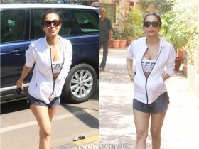 PHOTOS: Malaika Arora stuns in white as she gets papped outside the yoga studio