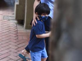 PHOTOS: Taimur Ali Khan and Inaaya raise the cuteness quotient as they get spotted in the city amid COVID 19