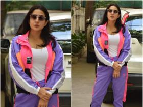 Sara Ali Khan looks vibrant in a casual look as she gets papped outside dubbing studio; See PHOTOS