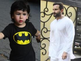 Taimur Ali Khan has the cutest expressions as he steps out in the city with dad Saif Ali Khan; See PHOTOS