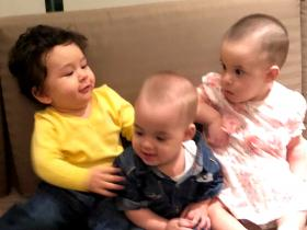 Taimur Ali Khan's 6 photos with Karan Johar's twins Roohi and Yash are beyond adorable