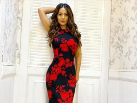 When Hina Khan made jaws drop by flaunting her curvy figure in a stunning floral gown