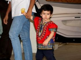 When Taimur Ali Khan ditched casuals for a tribal printed red shirt and raised the cuteness quotient; See Pics