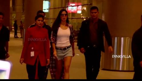 Katrina Kaif arrives at the Mumbai Aiport after a trip to the US