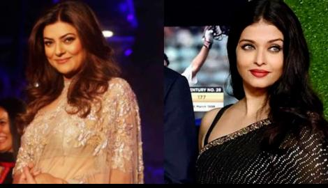 Aishwarya Rai Bachchan VS Sushmita Sen: Classic black or shimmer golden; Which saree would you choose to wear