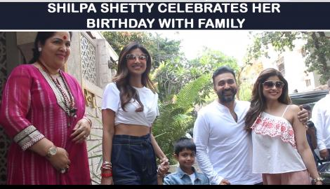 Birthday girl Shilpa Shetty steps out for lunch with her family