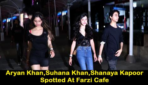 Star Kids Aryan Khan,Suhana Khan and Ahaan Panday spotted at a popular eatery;Check this video out