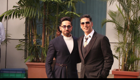 Akshay Kumar and Ayushmann Khurrana make a stylish appearance at the airport