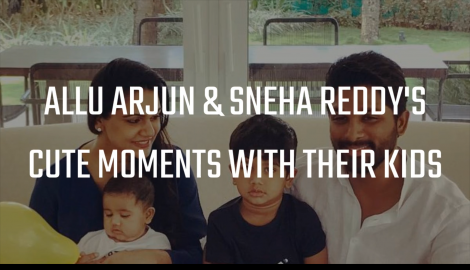 Allu Arjun and his wife Sneha Reddy's awwdorable moments with their kids Ayaan and Arha