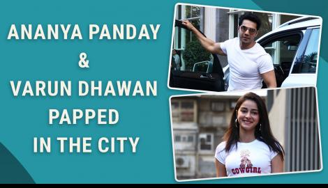 Ananya Panday and Varun Dhawan papped outside director's office