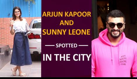 Sunny Leone and Arjun Kapoor make a stylish appearance in the city