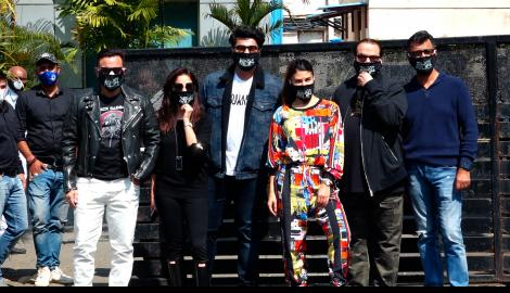 Saif Ali Khan, Arjun Kapoor, Yami Gautam & Jacqueline Fernandez leave for the shoot of Bhoot Police