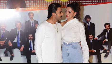 Ranveer Singh and Deepika Padukone attend the wrap up party of their film '83