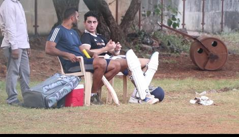 Ibrahim Ali Khan engrossed in a conversation as he gets papped in between cricket practice in the city