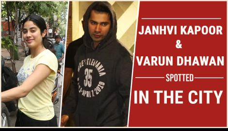 Janhvi Kapoor and Varun Dhawan spotted in the city