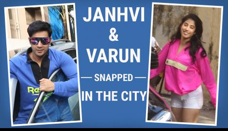 Janhvi Kapoor and Varun Dhawan papped in the city